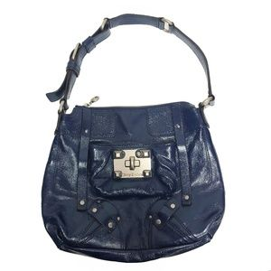 Juicy Couture Blue Patent Leather Shoulder Bag